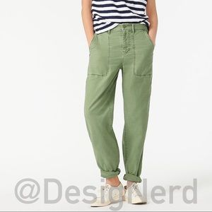 J.CREW GARMENT-DYED FOUNDRY PANT 00 FATIGUE OLIVE